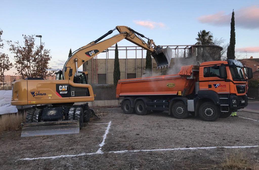 Maquinaria para excavaciones y construcción en Zaragoza