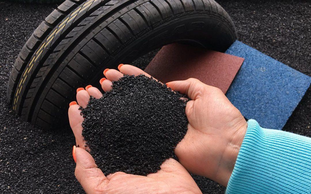 Neumáticos reciclados para la construcción de carreteras